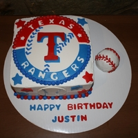 Texas Rangers   I got a request to duplicate a cake someone else had done. I did my cake similar but changed up a bunch of things.