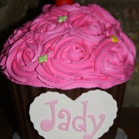 Cupcake Smash Cake This is a big cupcake cake I made for a photo shoot for a friends little girl named Jady. I used strawberry cake and made the bottom have a...