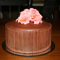Chocolate Mmf Cake With Hibiscus Flowers