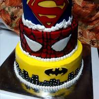 Super Hero Birthday Cake *