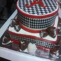 Alabama Houndstooth Groom Cake *