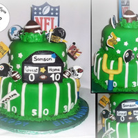 Football Fan Cake For a 10 year old boy who LOVES anything and everything Football!Chocolate with Oreo Filling.