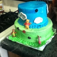 Winnie The Pooh Themed Cake