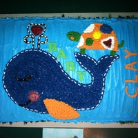 Baby Whale Turtle Cake