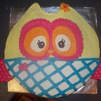 Pastel Owl Cake This is taken from a napkin design from orientaltrading.com