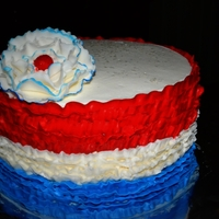 4Th Of July Birthday THis was made for a 4th of July birthday I wanted to make it have some independence day but not to much. It is an 8' cake with...