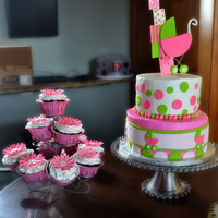 Baby Shower Cake And Cupcakes Baby shower cake and cupcakes