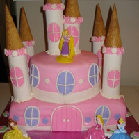 Pink Princess Castle A princess castle for a little girl turning 7. All mmf, pastiage towers and sugar cone tops.