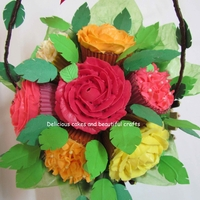 Cupcake Bouquet!   A bouquet of cupcakes.All Flowers are butter cream