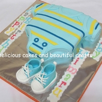 Baby Suit Cake   Visit my gallery for template of the baby sneakers