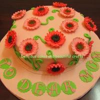 """daisies"" Cake All daisies are made with gum paste."