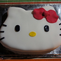 Hello Kitty Hello Kitty cake that I made for my niece.