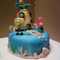 Spongebob Spongebob, Patrick & Gary. A little heavy on some blue spray in the front, but it was a fun cake to make. All characters made with...