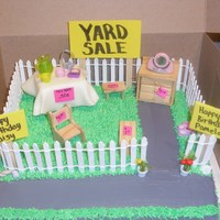 """yard Sale"" Birthday Cake   Yard Sale Birthday Cake :)"