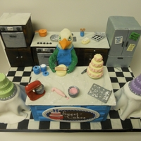 Eagle In The Kitchen I made this cake in October for my alma mater's homecoming cake contest. Career Services wanted a cake that depicts our mascot working...