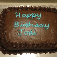 Birthday This is a chocolate cake with peanut butter whipped buttercream in the middle, and chocolate buttercream. I need more work on my writing,...