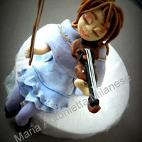 Passionate Girl Violin topper of girl