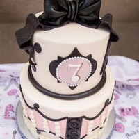 Parisian Themed Party *Buttercream with fondant accents.
