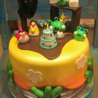 Angry Birds Angry Bird theme. Pic provided by customer : ) Put this together with my Partner Lori. She did some really great characters!