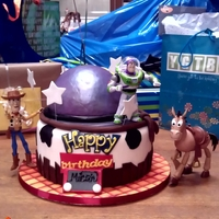 Toy Story Cake Toy Story Cake Toys are real. Rest is Yummy:)
