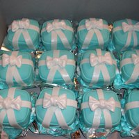 Tiffany Ring Boxes Made these last Sept. My first attempt with fondant and bows, was very nervous. They were a surprise for my daughters BD. I could not...
