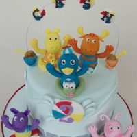 Backyardigans Themed Cake For Cassius Carrot Cake with Cream Cheese Frosting