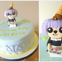 Graduation (Lawyer) Themed Cake Character is replica of celebrants fav. game