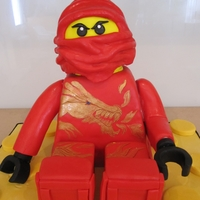 Ninjago Ninjago seems to be the big lego rage at the moment - this little fella is called Kai apparently. Cake is good old chocolate with chocolate...