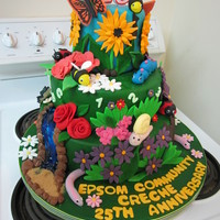 Creche Garden This cake was created to celebrate the 25th anniversary of my son's creche. The creche has a beautiful garden and the children love...