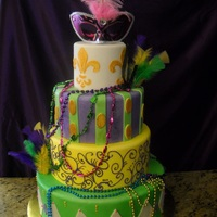 Mardi Gras Theme Cake This is a cake dummy we were asked to prepare for a quinceanera.