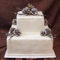 Winter Pinecone Wedding Cake