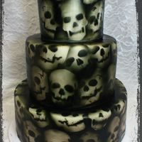 Skull Cake! Skull cake made by Iced and Sliced