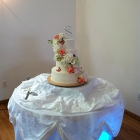 Elegant Flower Wedding Cake This was my first fresh flower cascade! The bride wanted to add butterflies into the cascade, so there are a few handmade butterflies in...
