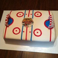 Hockey Rink Hockey rink birthday cake for a big fan and season ticket holder of 20years!