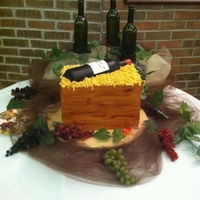 Wine Crate wine crate cake for a wedding shower