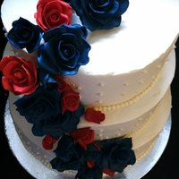 Navy And Red Roses Wedding This was a red white and blue wedding, celebrating their marriage and the coming home of a soldier! I was so proud to be able to do their...