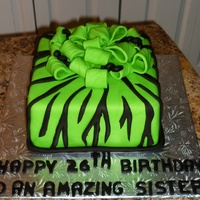 Green Zebra Birthday Gift