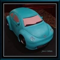Birthday Vw Car Cake Birthday VW ca caker. Fondant covered, modeling chocolate accents