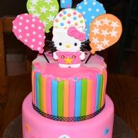 Hello Kitty Made this cake for twins Harper and Paisley who were turning 1...Smash cakes included :)