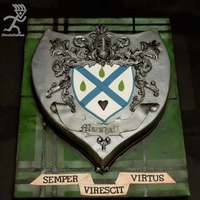 Family Crest With Airbrushed Tartan
