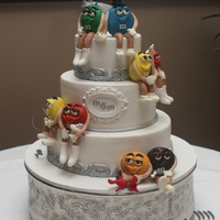 M&m Wedding Cake M&M characters made from Modelling chocolate