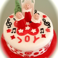 Choirboy Cake   fruit cake with choirboy decoration