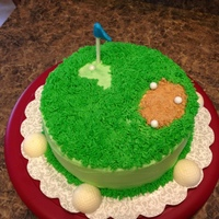 Golf Theme   Golf Course Cake all Buttercream