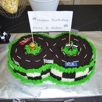 "Race Track   2 - 9"" all buttercream cakes"