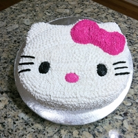 Another Hello Kitty... Chocolate cake with butter cream icing.