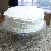 Delicious Italian Cream Cake   Buttercream icing and cream cheese filling.