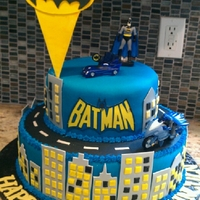 Batman 2 Layer Fondant Batman Cake