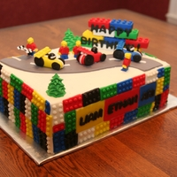Lego Cake Lego cake, chocolate and filled with choc. buttercream. A friend asked me to make this for her son and his 2 little friends, when they...