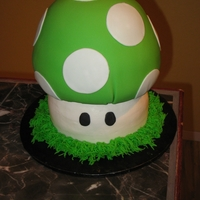 Extra Life Mushroom My cousin loves super mario brothers. This was for her 21st bday. She has a belt buckle to match.