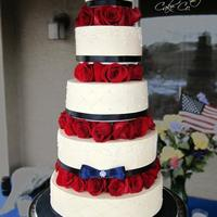 All Buttercream Cake With Rose Separated Tiers Tfl All buttercream cake with rose separated tiers. TFL!